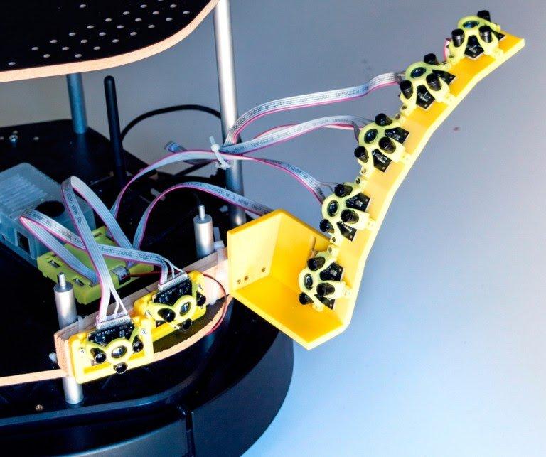 3 Teraranger Hub Robotics Sensor Array