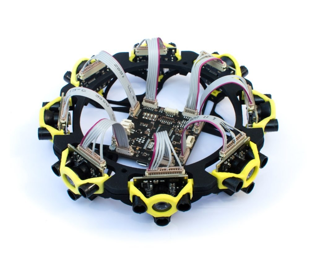 5 robotic collision avoidance Teraranger Tower Solid State Lidar 8 Sensors