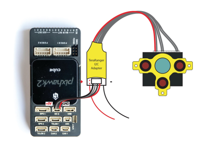 Terabee Sensors Modules Connection to Pixhawk autopilots Teraranger One