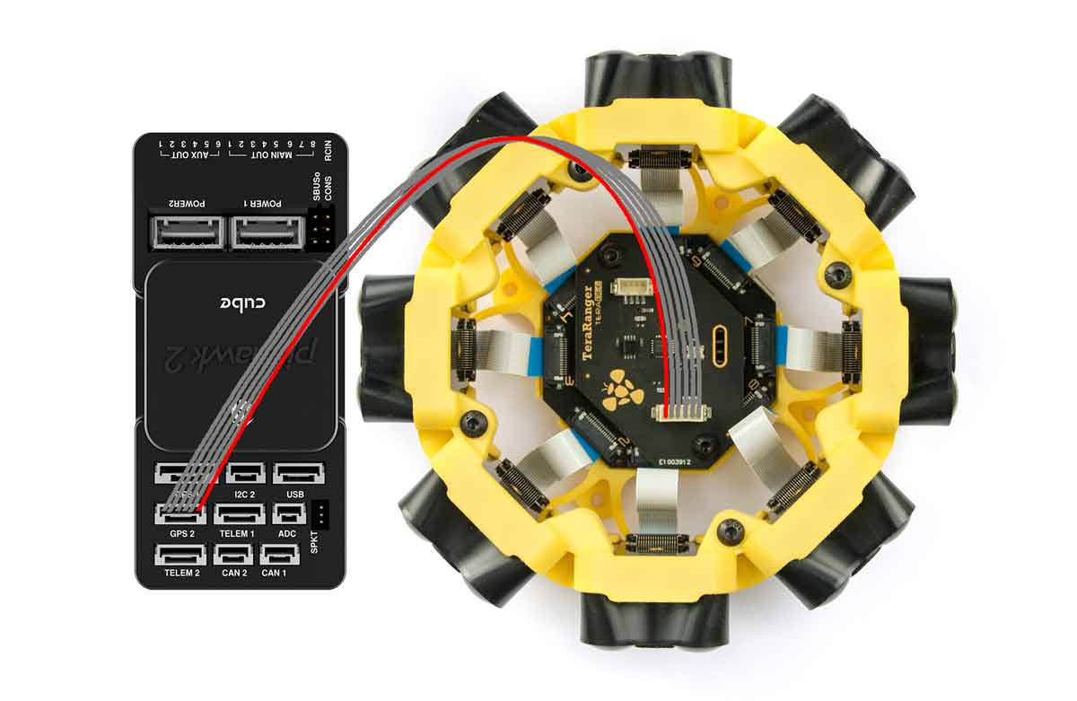 Terabee Sensors Modules Connection to Pixhawk autopilots Teraranger Tower Evo