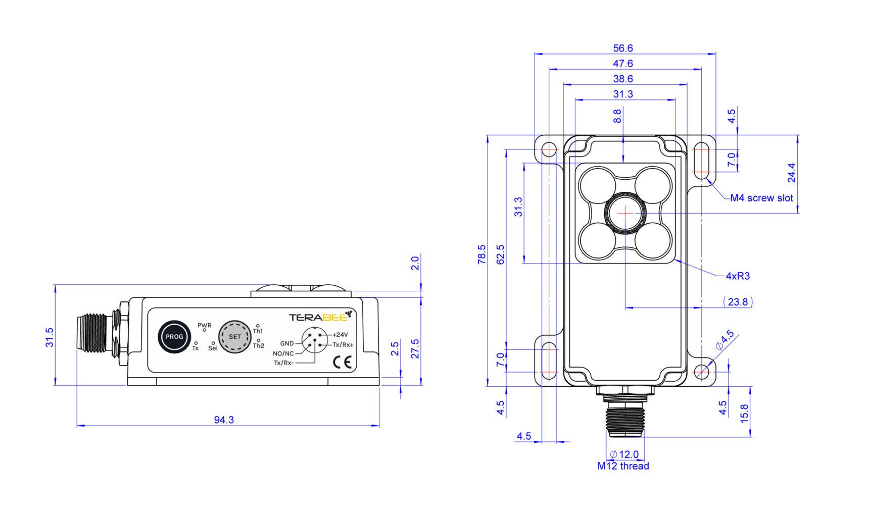 Ind Tof 1 Industrial Sensor Dimensions