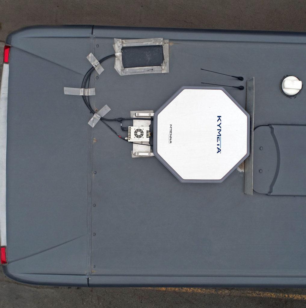 Kymeta Antenna Installed On A Tepsa Bus (1)