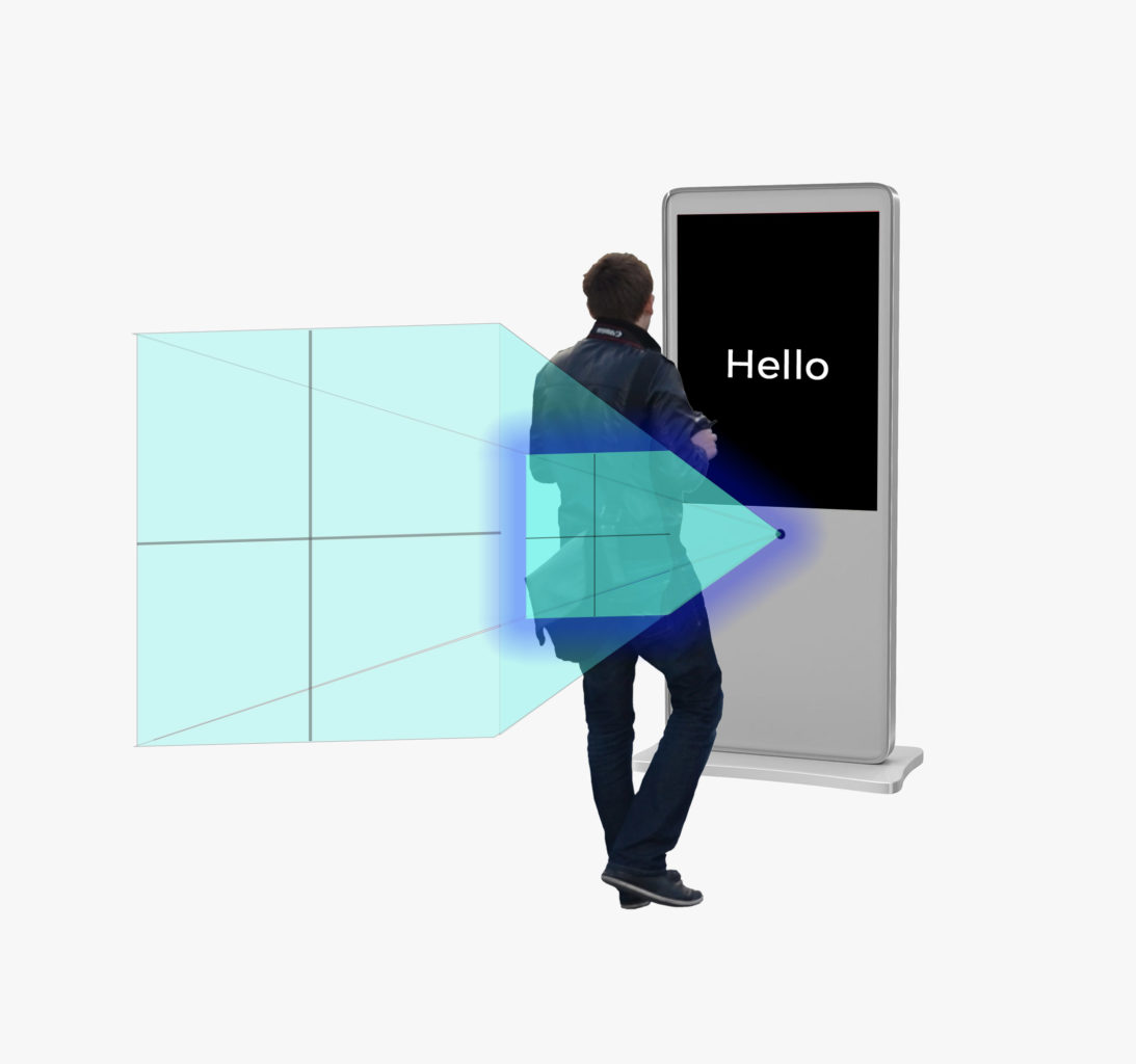 proximity touch screen