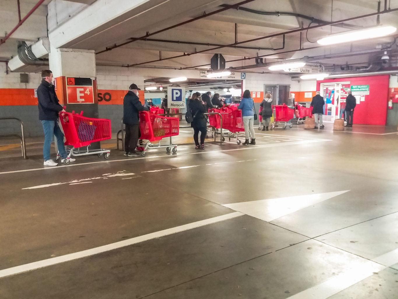Covid 19 Social Distance Supermarket